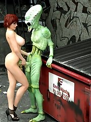 nice 3d alien sex outdoor